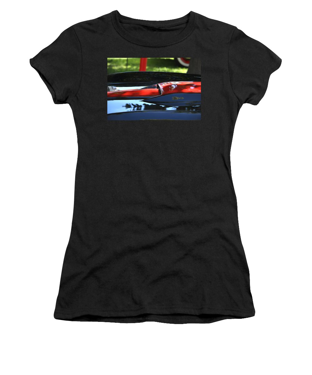 Corvette Women's T-Shirt featuring the photograph Corvette Torch by Dean Ferreira