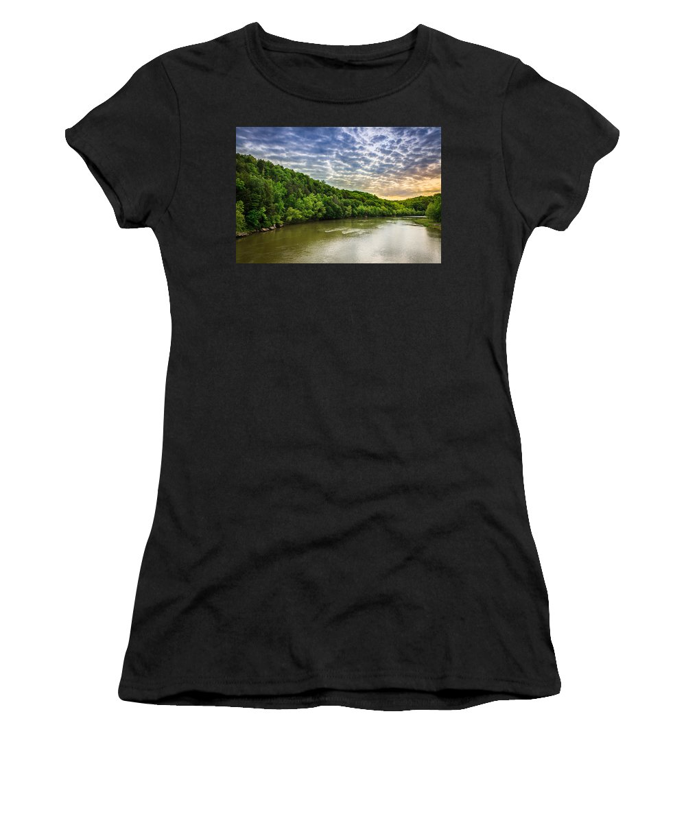 River Women's T-Shirt featuring the photograph Cumberland River by Alexey Stiop