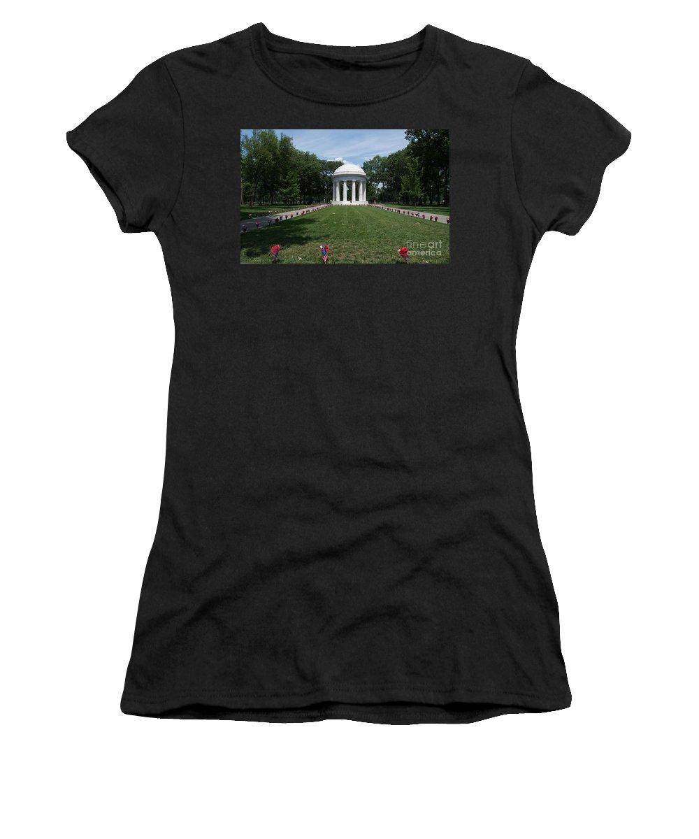 District Of Columbia War Memorial Women's T-Shirt featuring the digital art District Of Columbia War Memorial by Carol Ailles