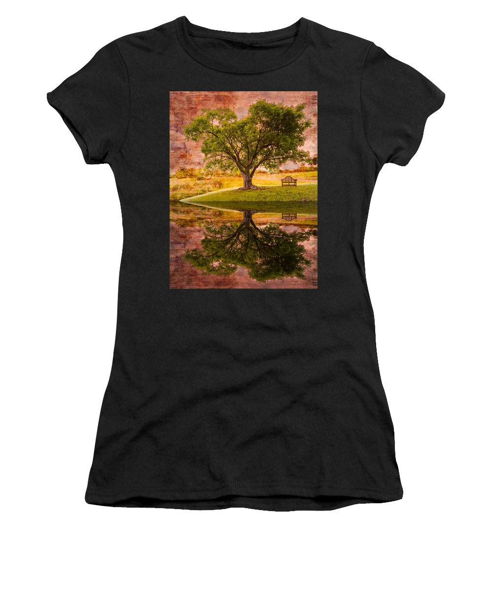 Clouds Women's T-Shirt featuring the photograph Dreaming by Debra and Dave Vanderlaan