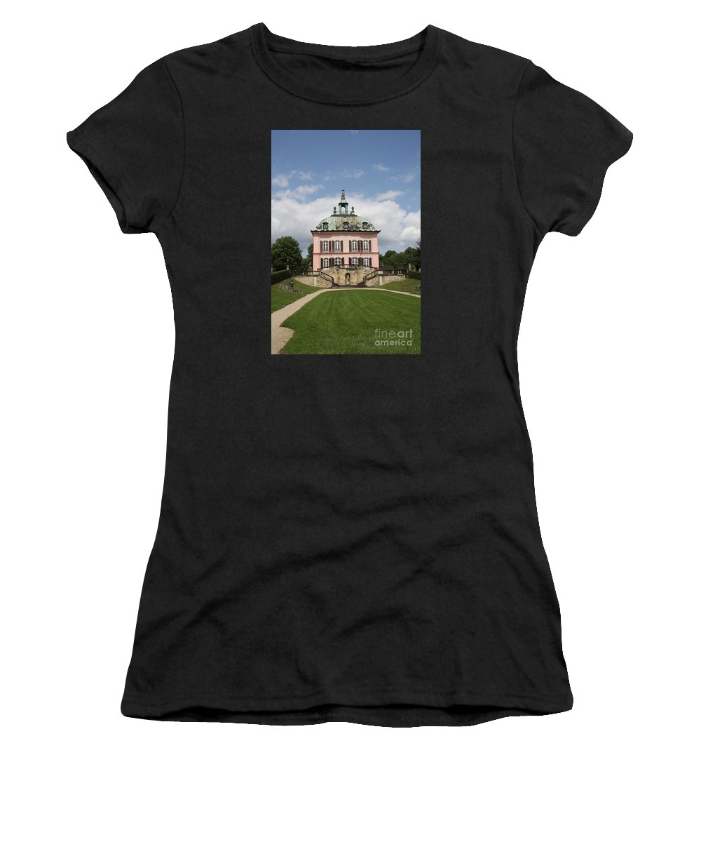 Palace Women's T-Shirt (Athletic Fit) featuring the photograph Fasanen Schloesschen - Germany  Pheasant Palace by Christiane Schulze Art And Photography