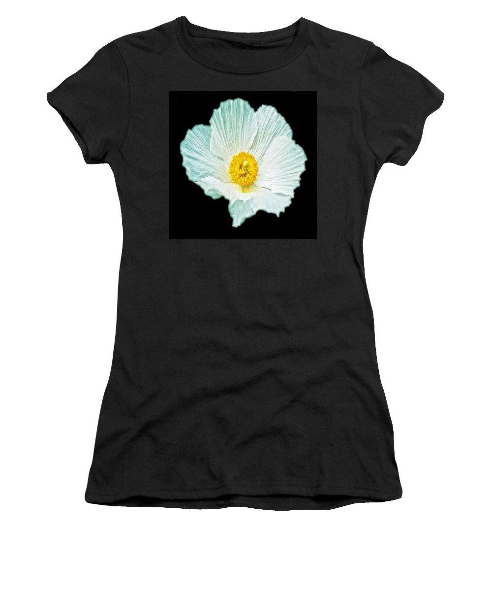Aurelian Lily Women's T-Shirt featuring the digital art Flower 3 by Ingrid Smith-Johnsen