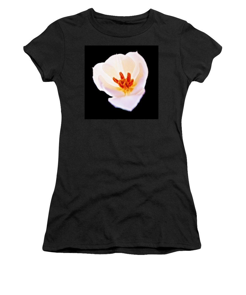 Aurelian Lily Women's T-Shirt featuring the digital art Flower 4 by Ingrid Smith-Johnsen