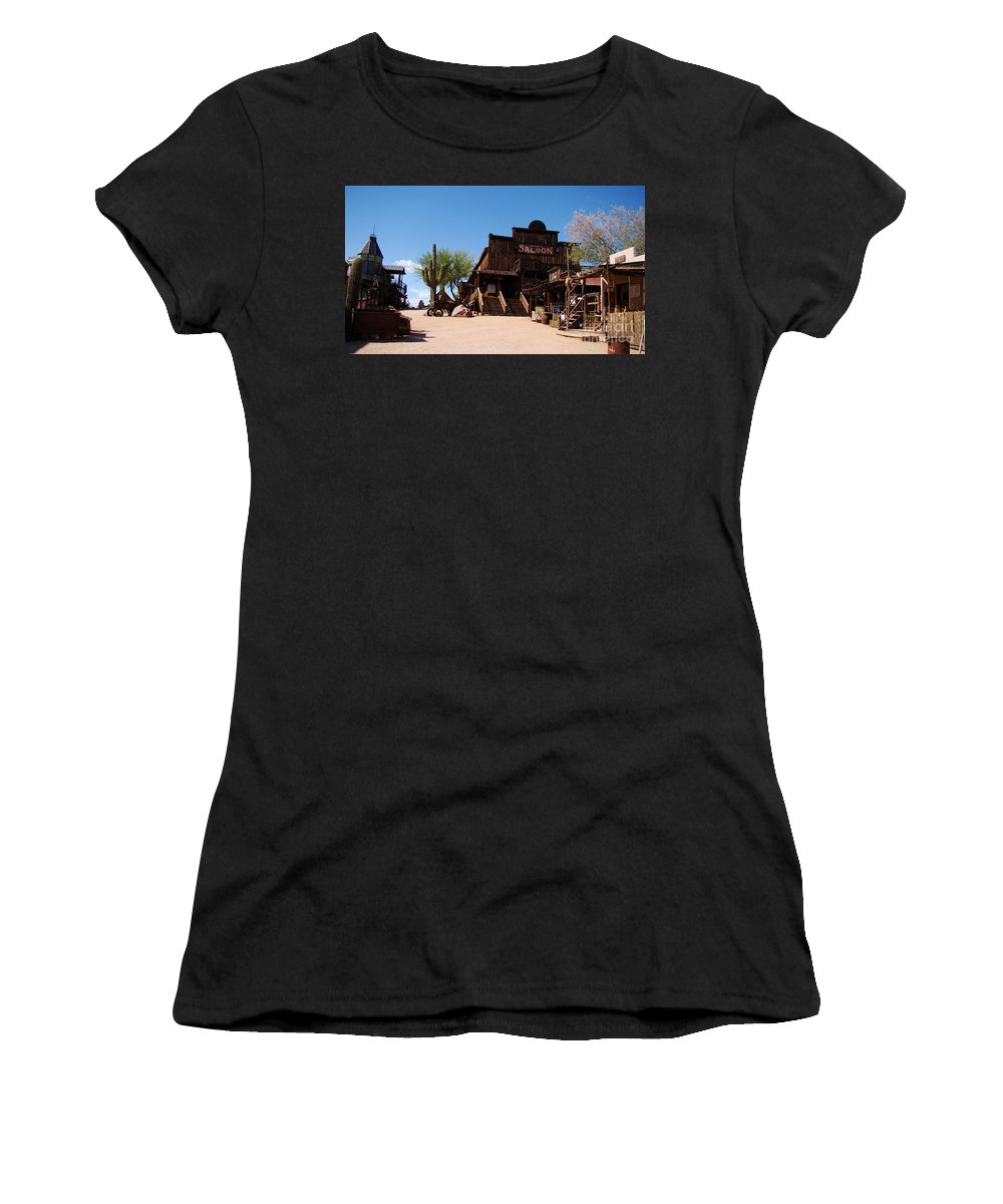Authentic Photograph Women's T-Shirt featuring the photograph Ghost Town Saloon by Beverly Guilliams