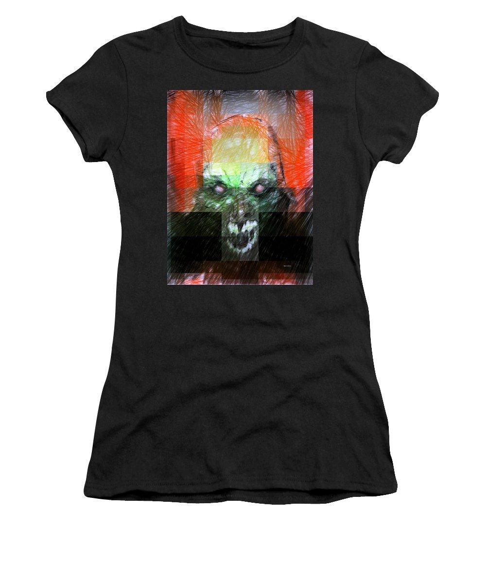 Halloween Women's T-Shirt featuring the digital art Halloween Mask by Rafael Salazar