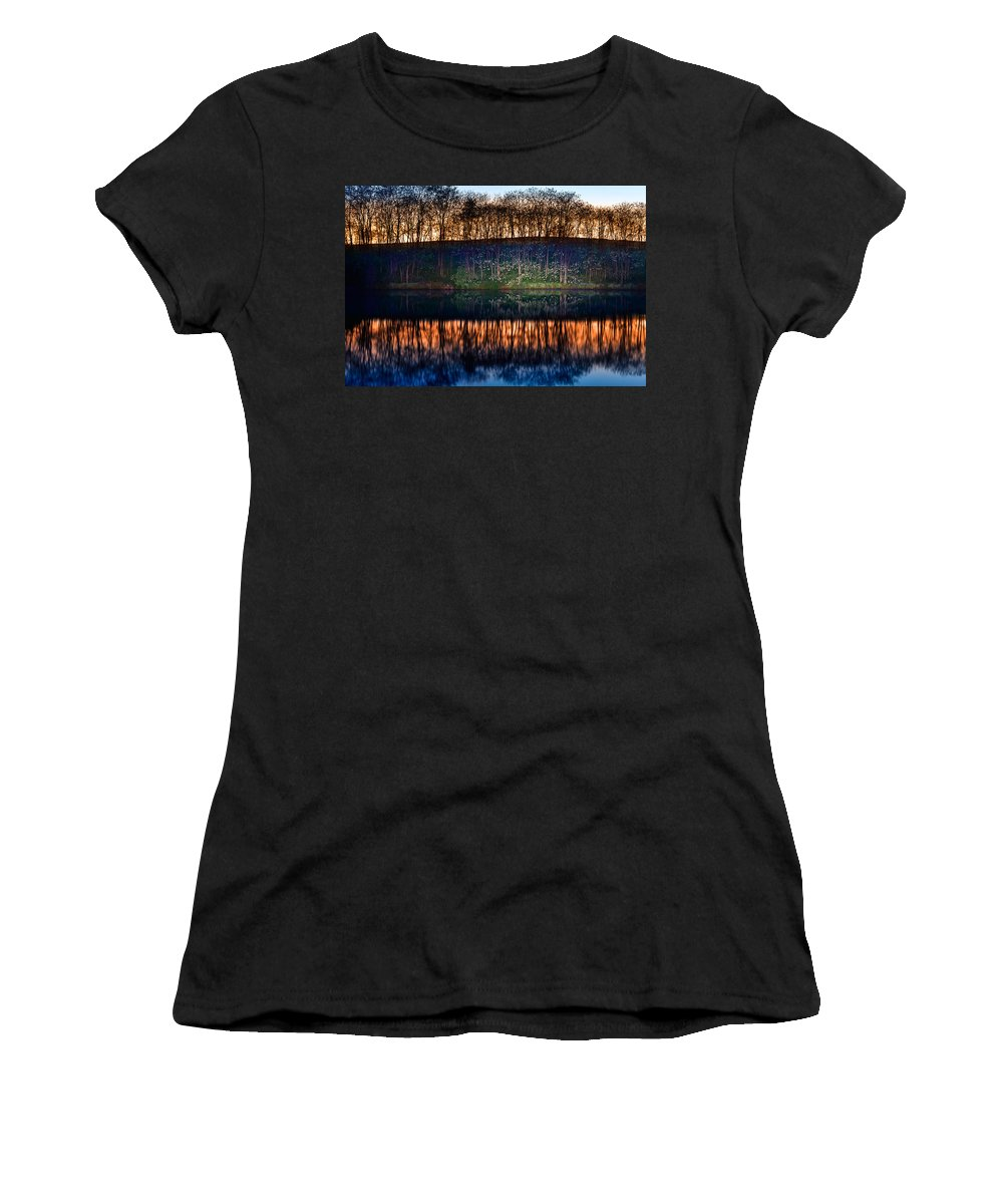 Lake Women's T-Shirt featuring the photograph Lake Shore by Alexey Stiop
