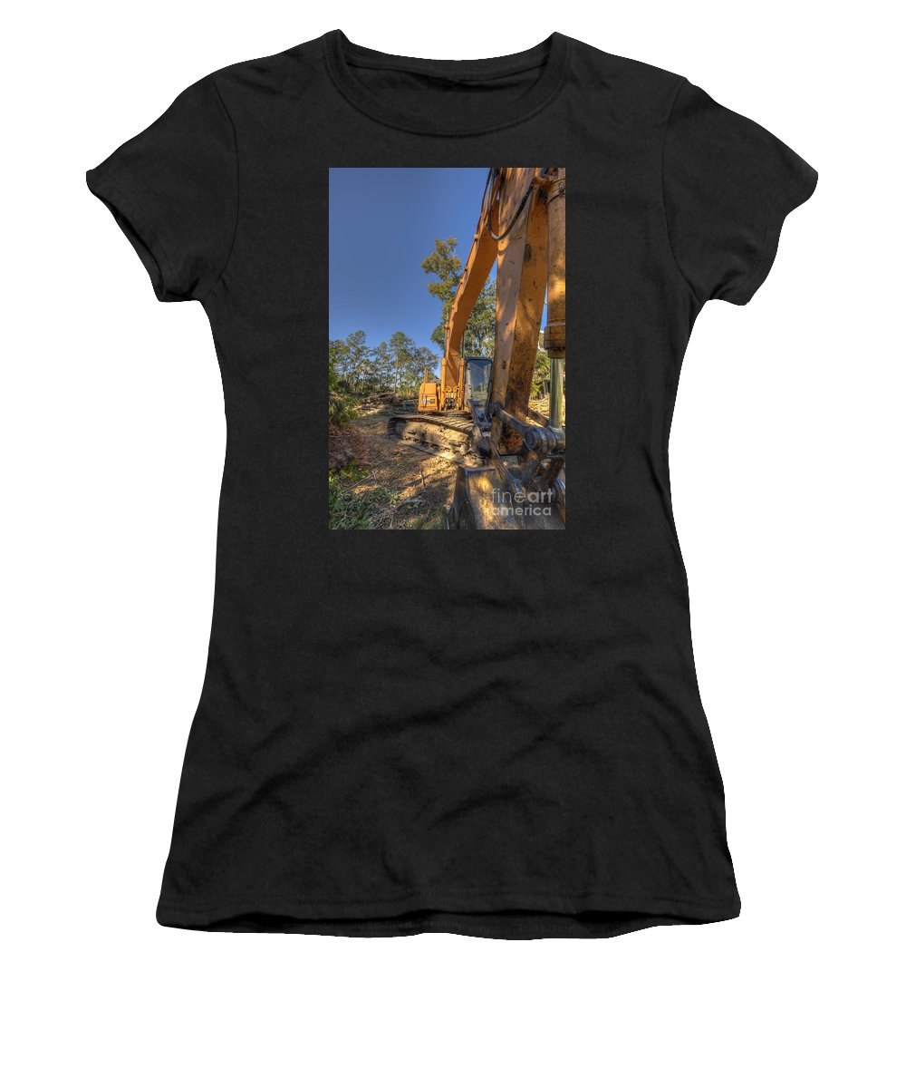 Construction Women's T-Shirt (Athletic Fit) featuring the photograph Cat Excavator by Dale Powell