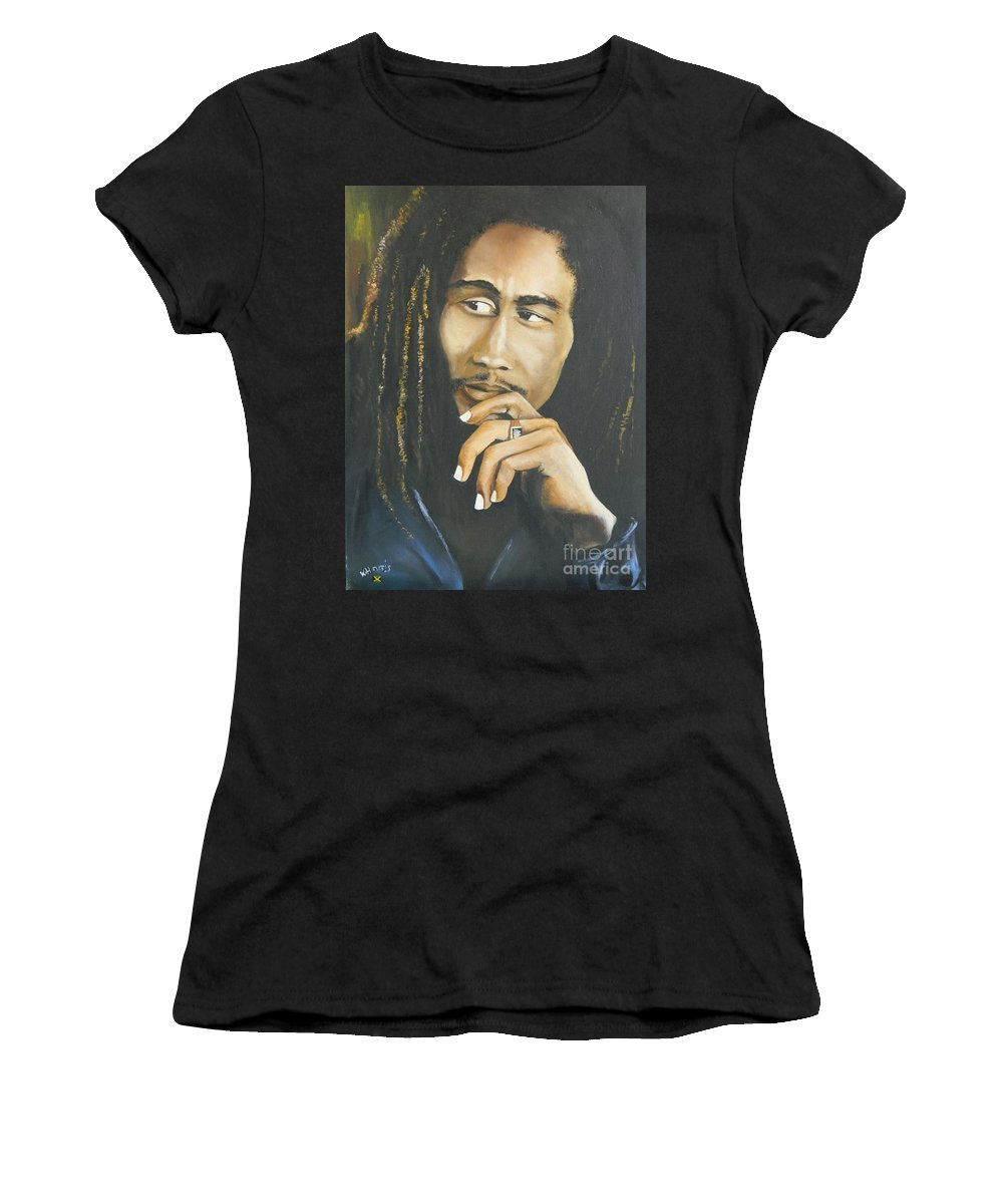 Jamaican Women's T-Shirt featuring the painting Legend by Kenneth Harris