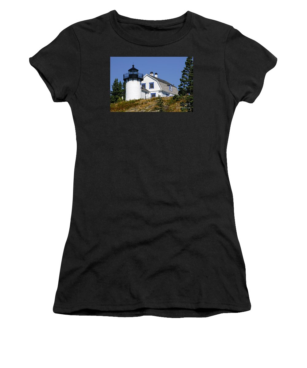 Maine Women's T-Shirt featuring the photograph Maine Lighthouse by Timothy Hacker