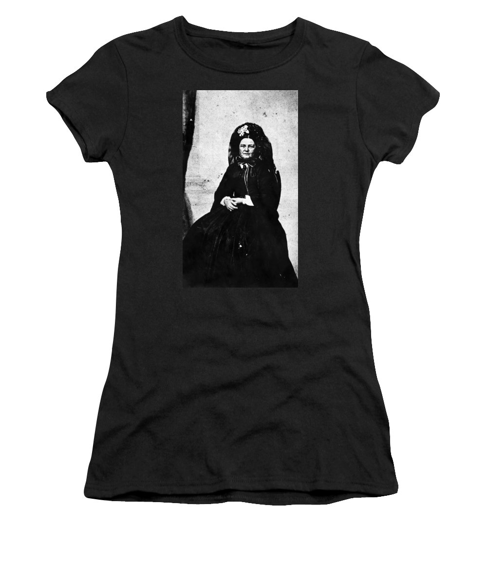 1862 Women's T-Shirt (Athletic Fit) featuring the photograph Mary Todd Lincoln (1818-1882) by Granger