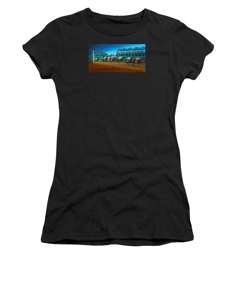 Horse Women's T-Shirt featuring the painting Odds Are Not by Sherryl Lapping