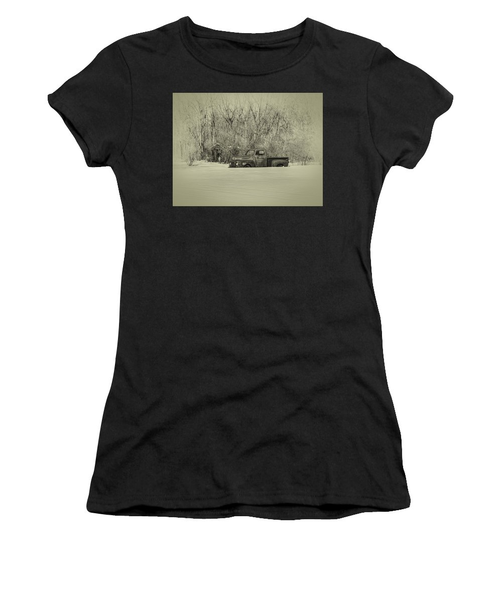 Ford Truck Women's T-Shirt featuring the photograph Old Timer by Thomas Young