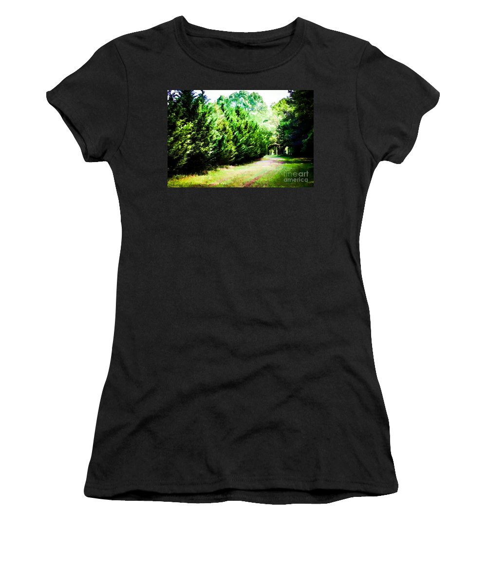 Path Women's T-Shirt featuring the photograph Path by Carolina Mendez