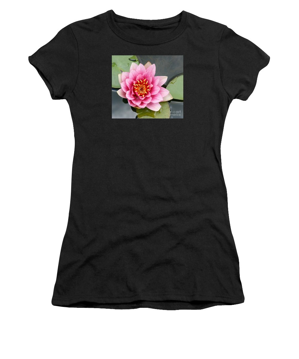 Lily Women's T-Shirt featuring the photograph Pink Waterlily by Christiane Schulze Art And Photography