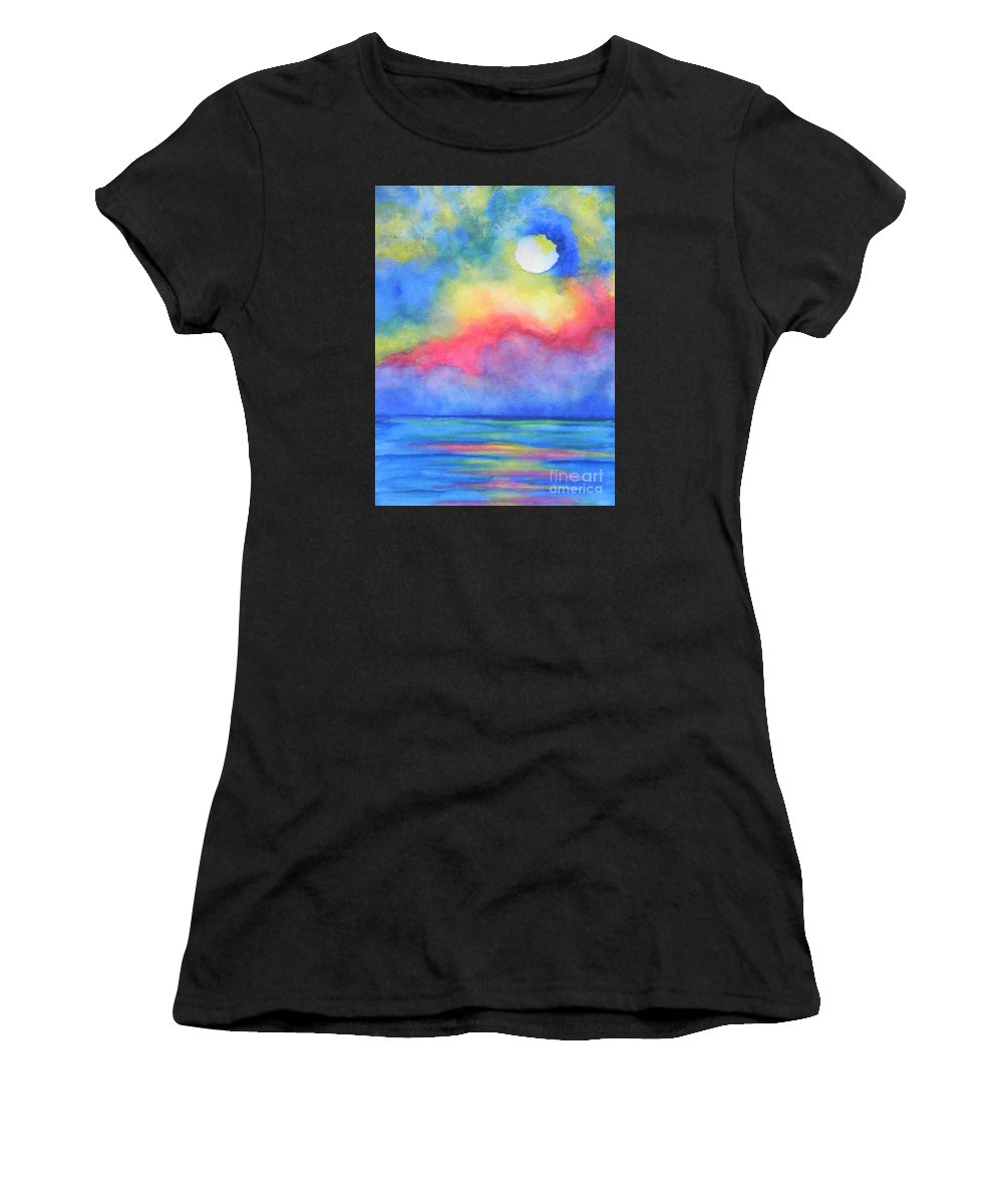 Fine Art Painting Women's T-Shirt featuring the painting Power Of Nature by Chrisann Ellis
