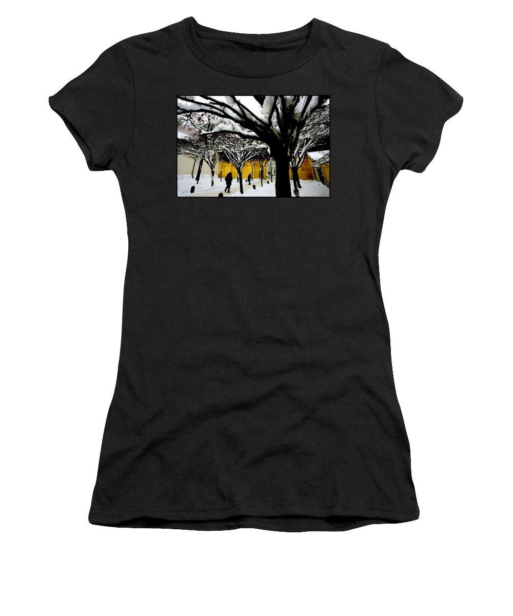 Winter Women's T-Shirt featuring the photograph Prague Winter by Paul Sutcliffe
