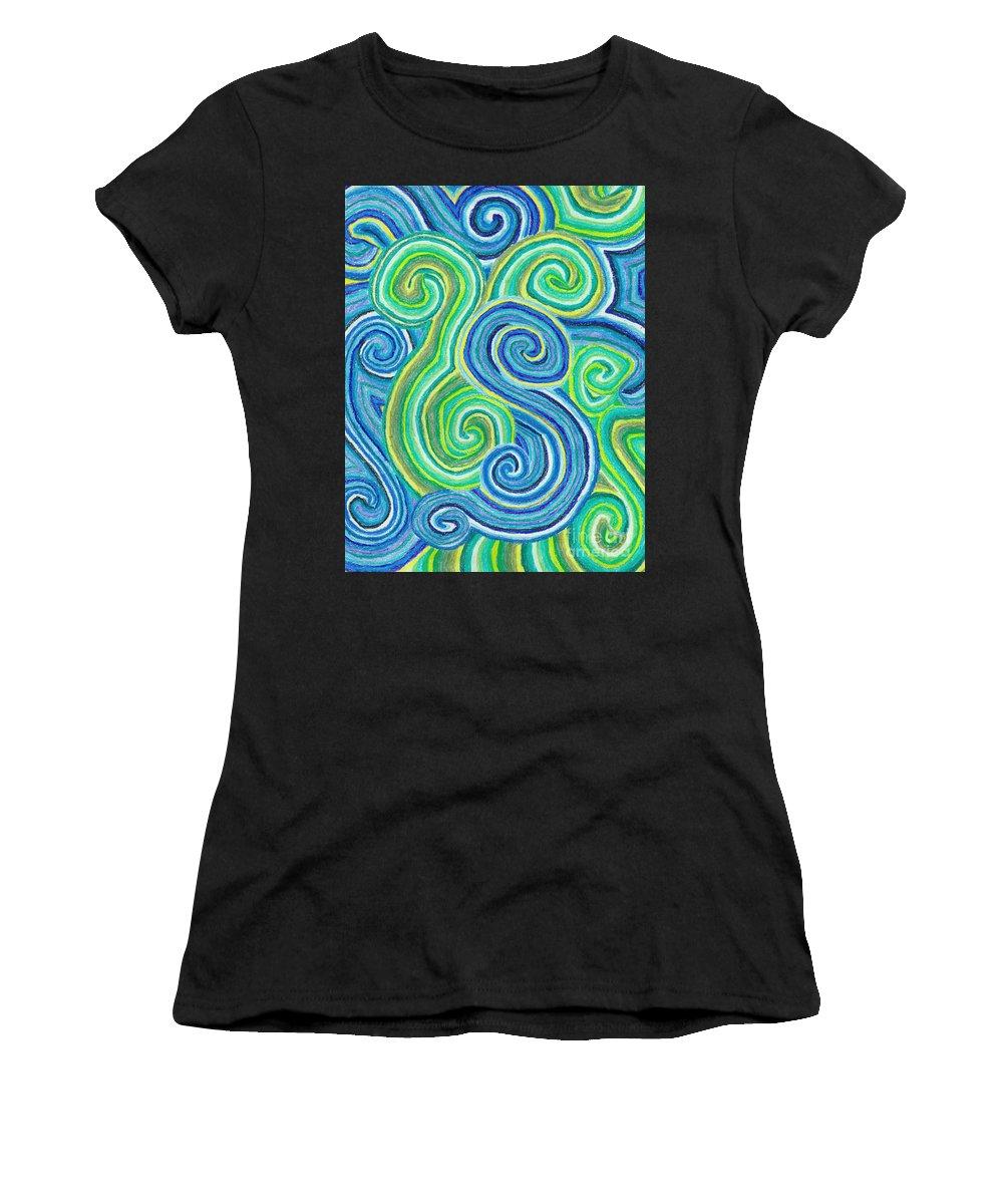 Rain Women's T-Shirt featuring the drawing Rain by J M Lister