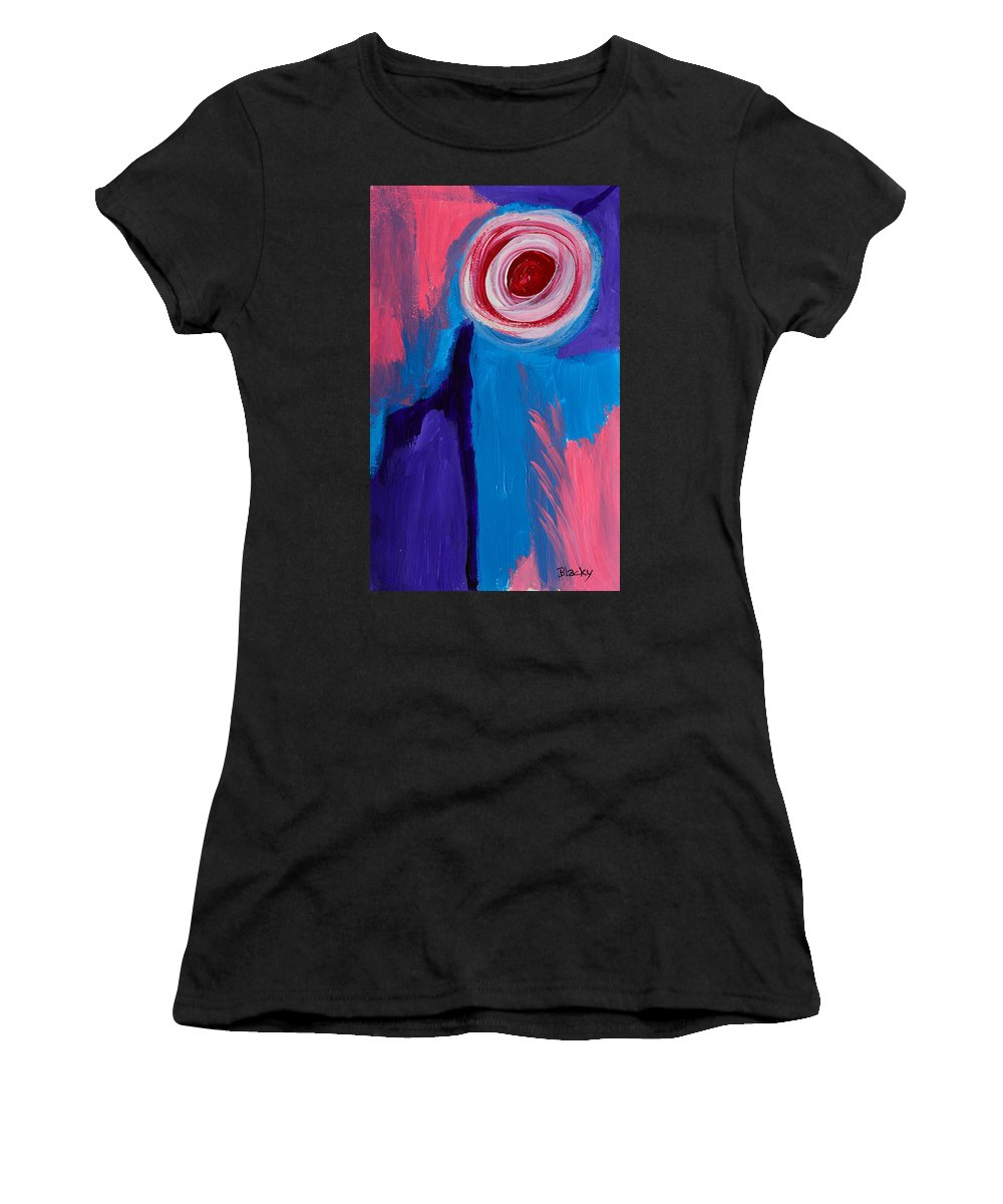 Sun Women's T-Shirt (Athletic Fit) featuring the painting Rising Sun by Donna Blackhall