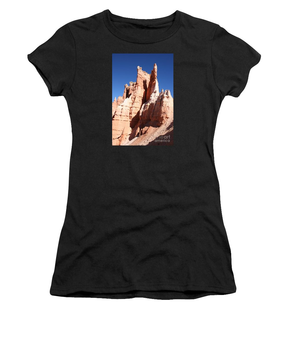 Canyon Women's T-Shirt (Athletic Fit) featuring the photograph Rockformation Bryce Canyon by Christiane Schulze Art And Photography