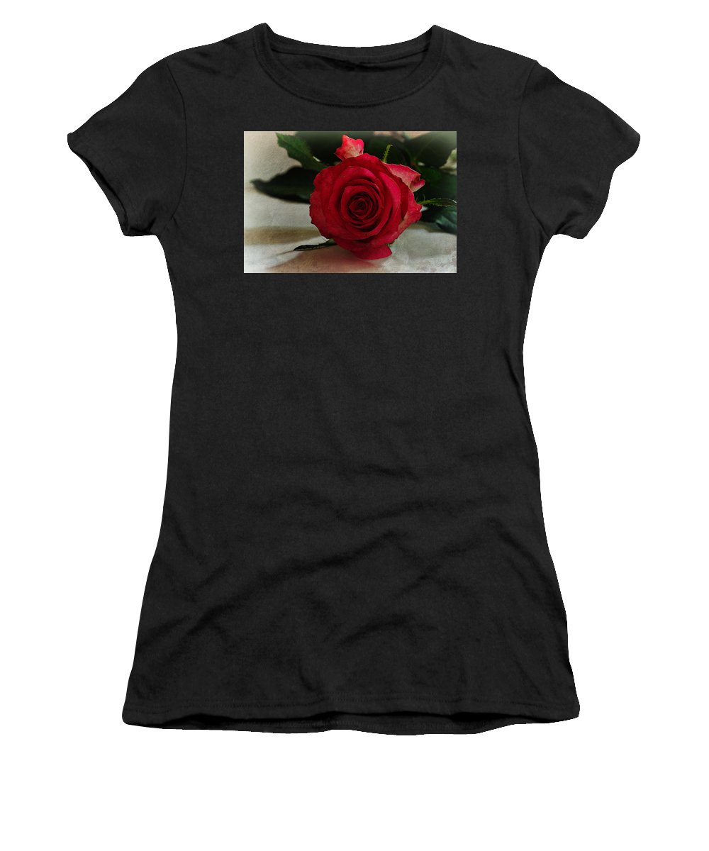 Rose Women's T-Shirt (Athletic Fit) featuring the photograph Rose by David Pringle