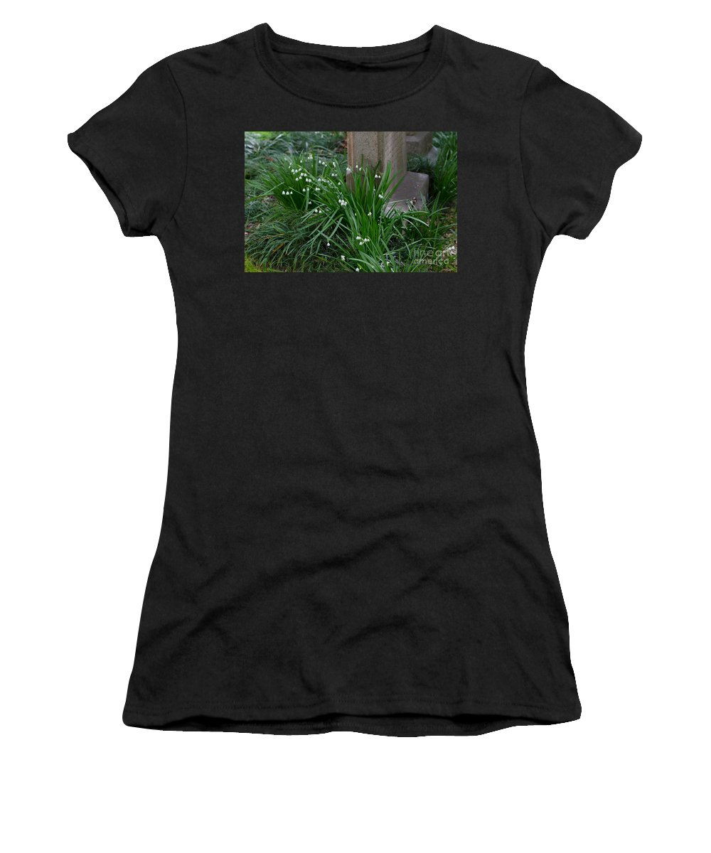 Graveyard Women's T-Shirt featuring the photograph Signs Of Spring by Dale Powell