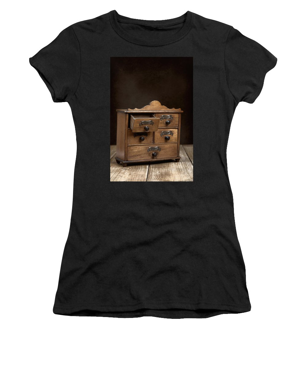 Spice Women's T-Shirt featuring the photograph Spice Cabinet by Amanda Elwell