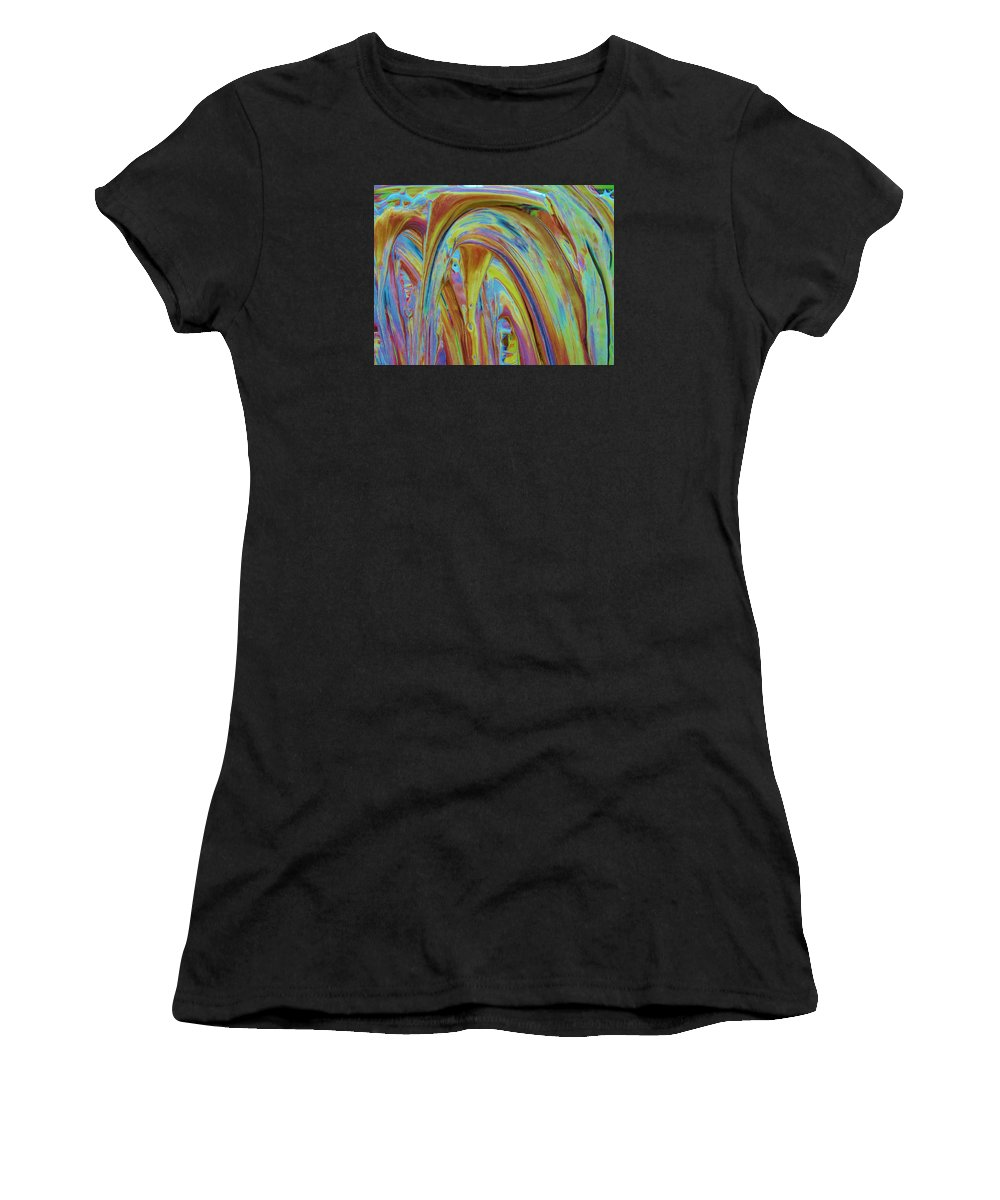 Original Women's T-Shirt (Athletic Fit) featuring the painting Taken by Artist Ai
