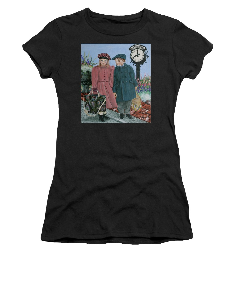Trip Women's T-Shirt (Athletic Fit) featuring the painting The Trip by Linda Simon