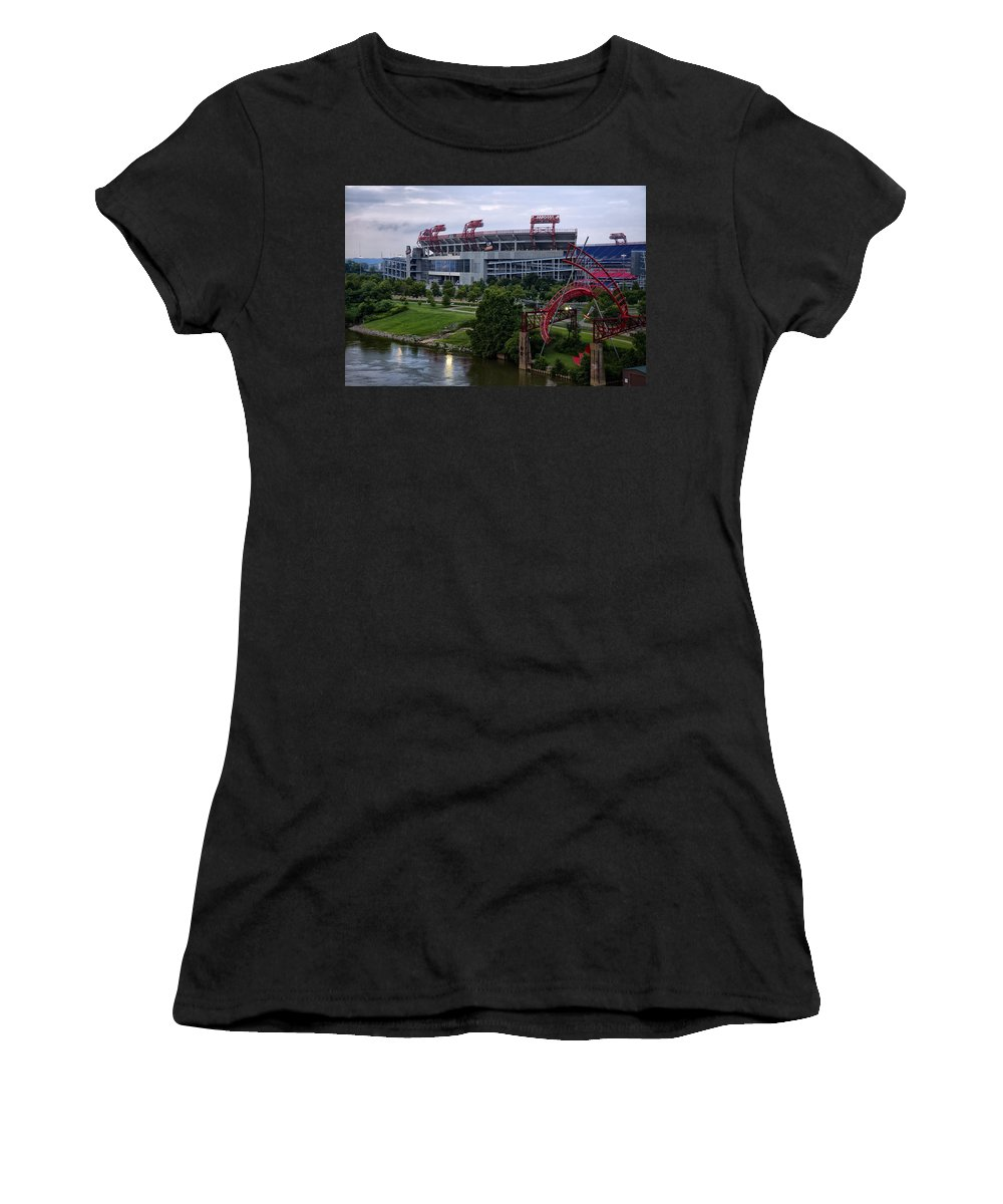 Titans Women's T-Shirt featuring the photograph Titans Lp Field by Diana Powell