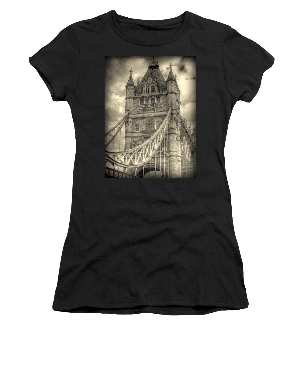 London Women's T-Shirt (Athletic Fit) featuring the photograph Tower Bridge by Jeff Watts