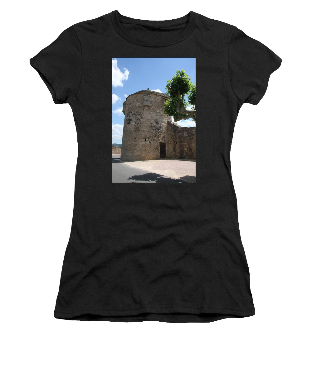 Watch Tower Women's T-Shirt featuring the photograph Watch Tower In Cluny by Christiane Schulze Art And Photography