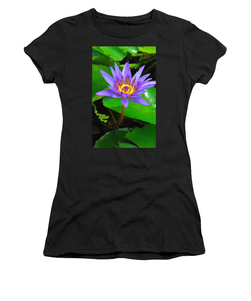 Water Lillies Women's T-Shirt featuring the photograph Water Lily 20 by Allen Beatty