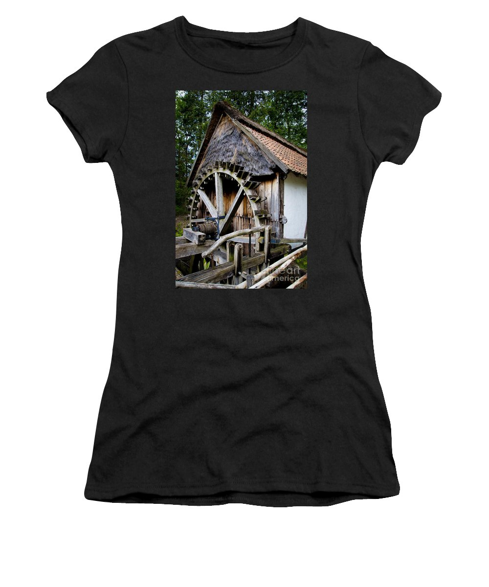 Old Watermill Women's T-Shirt featuring the photograph Watermill by Brothers Beerens