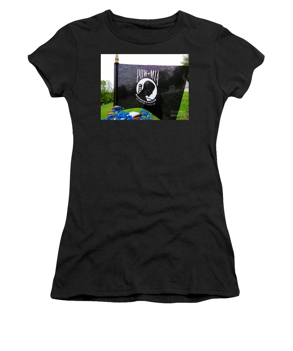 Pow Women's T-Shirt featuring the photograph You Are Not Forgotten by Ed Weidman