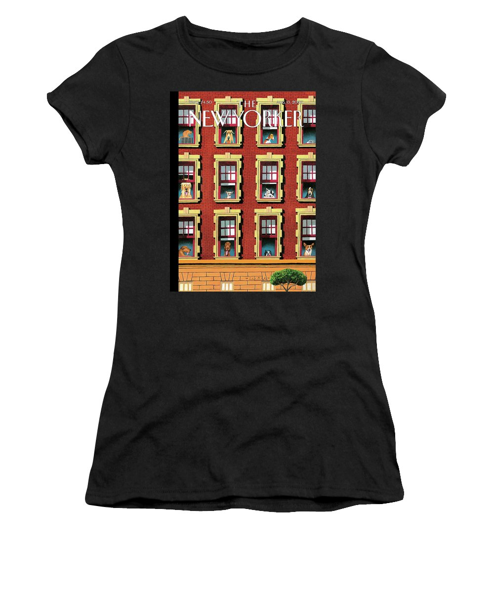 Hot Dogs Women's T-Shirt featuring the painting Hot Dogs by Mark Ulriksen