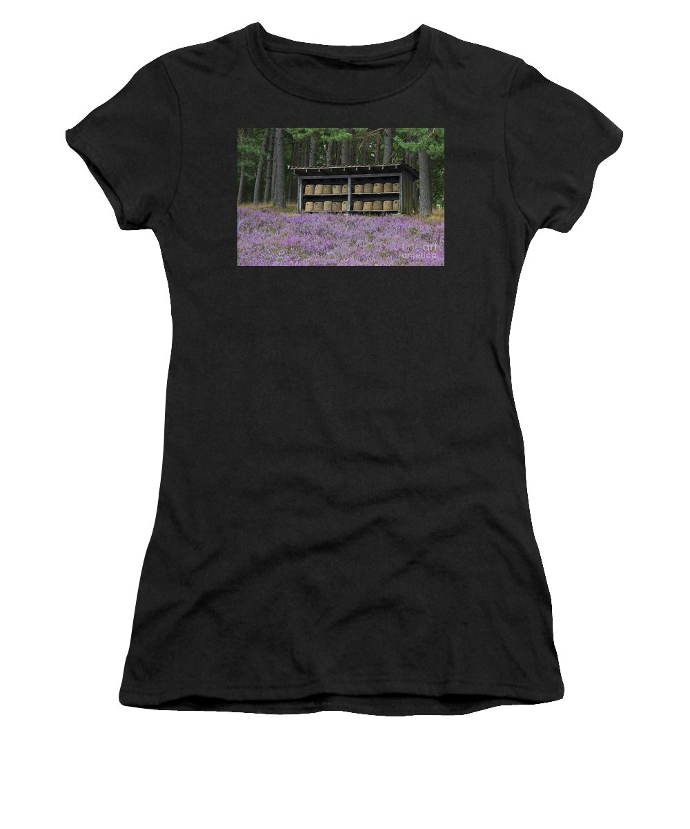 Honeybee Women's T-Shirt (Athletic Fit) featuring the photograph 131114p083 by Arterra Picture Library