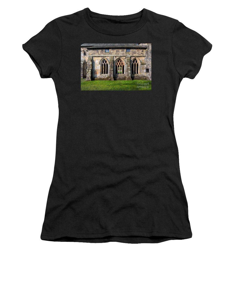 13th Century Women's T-Shirt (Athletic Fit) featuring the photograph 13th Century Abbey by Adrian Evans