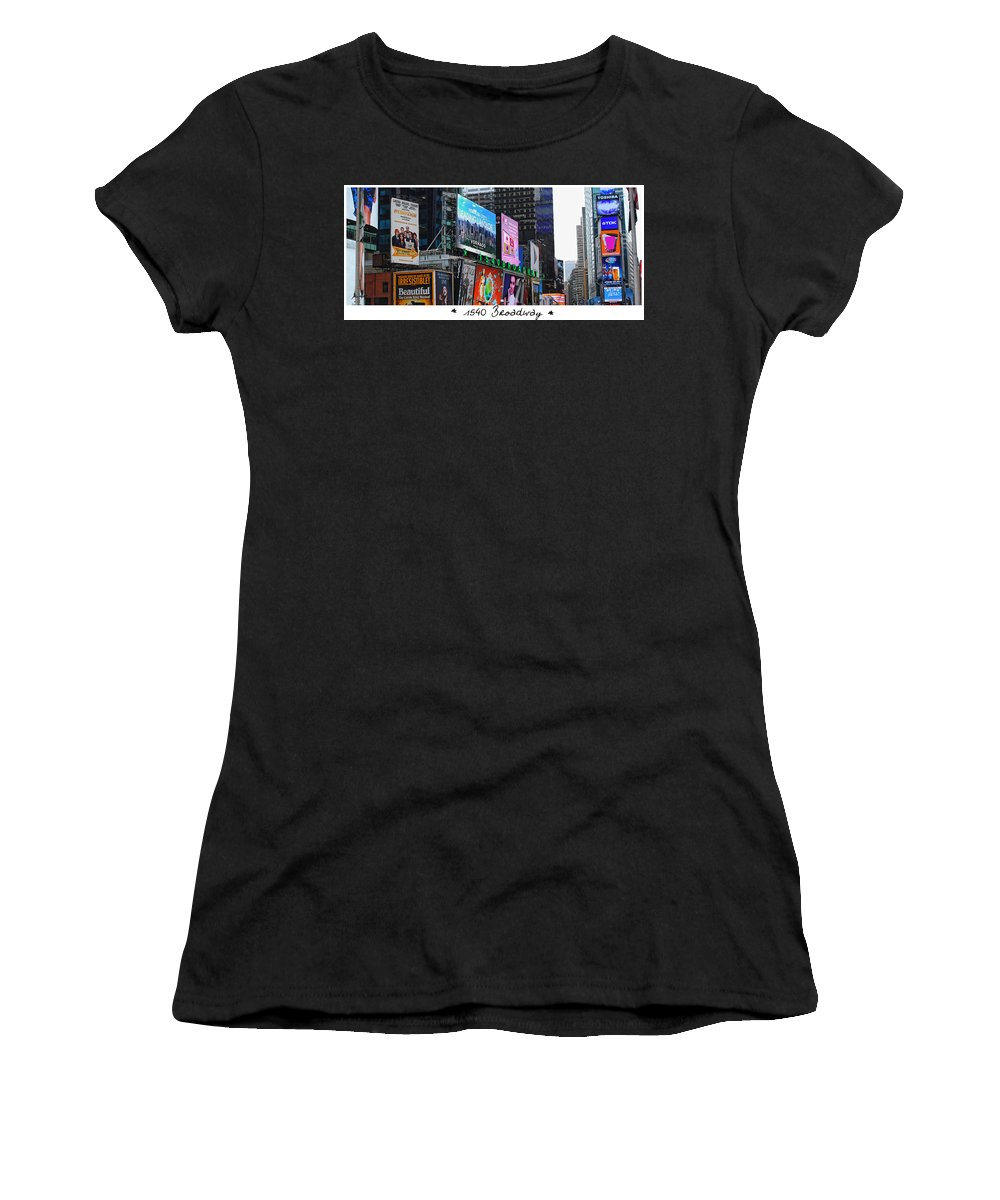 Wright Women's T-Shirt featuring the photograph 1540 Broadway by Paulette B Wright