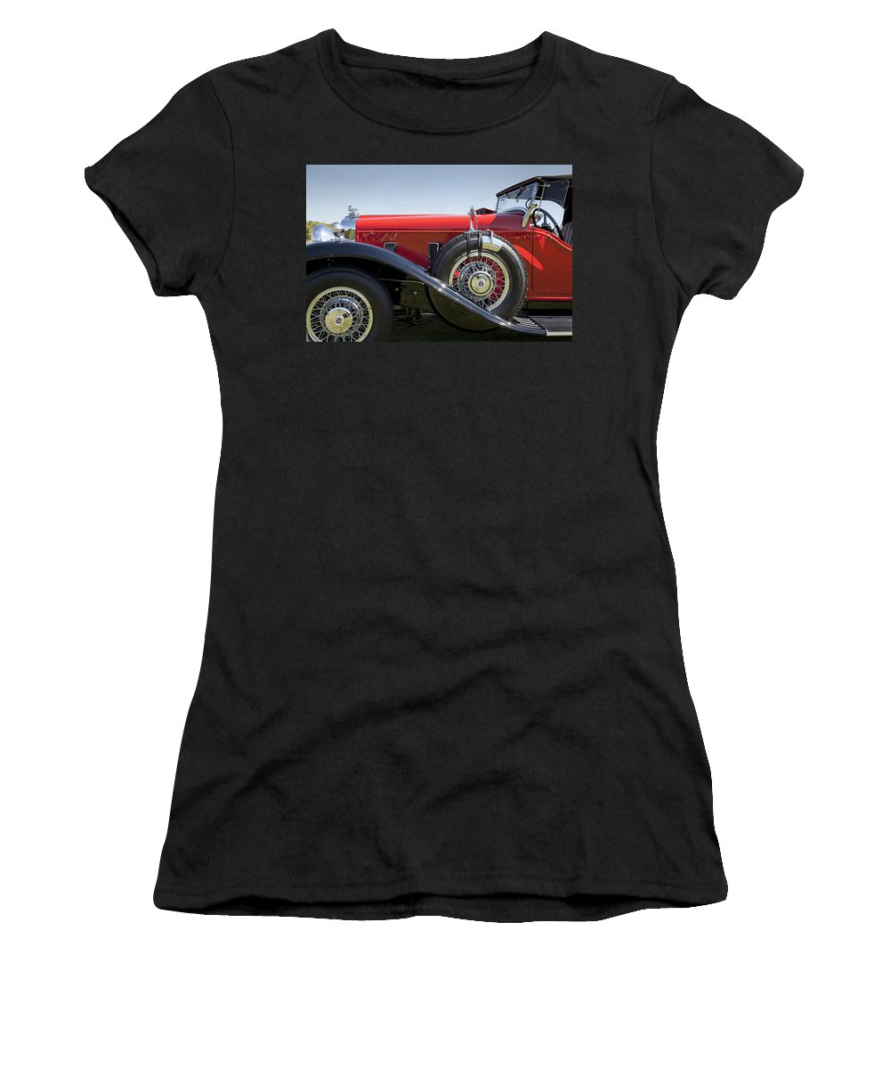 1932 Women's T-Shirt (Athletic Fit) featuring the photograph 1932 Stutz Bearcat Dv32 by Jack R Perry