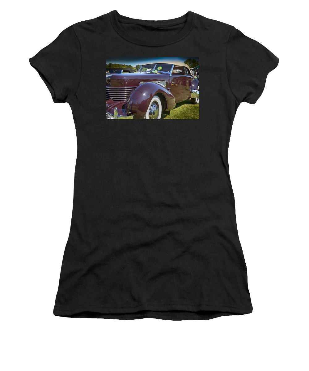 1937 Women's T-Shirt (Athletic Fit) featuring the photograph 1937 Cord Phaeton by Jack R Perry
