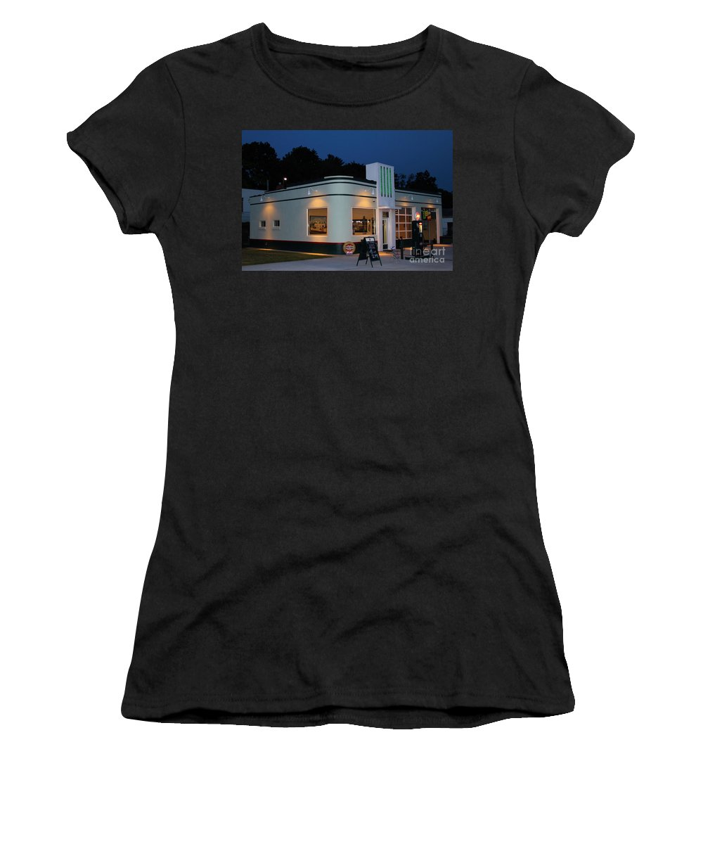 Gas Station Women's T-Shirt featuring the photograph 1947 Amoco Gas Station by Todd Bandy