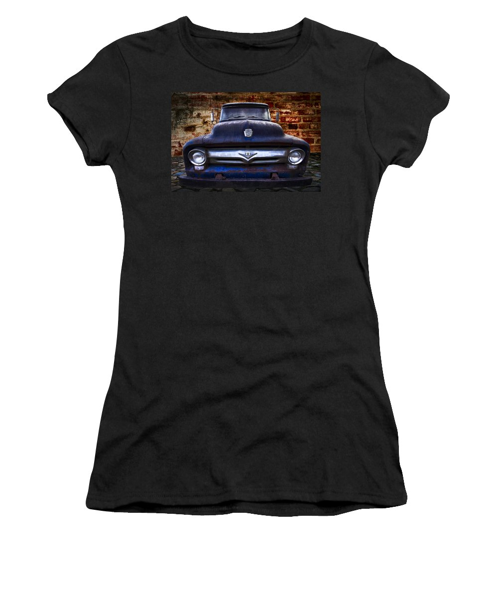 '56 Women's T-Shirt featuring the photograph 1956 Ford V8 by Debra and Dave Vanderlaan