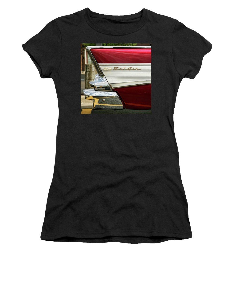 Bel Air Women's T-Shirt featuring the photograph 1957 Chevrolet Bel Air by Gordon Dean II