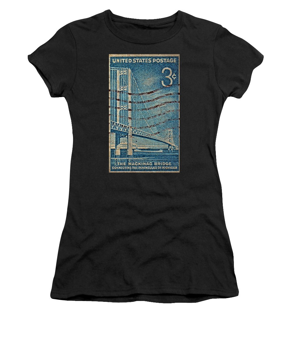 1958 The Mighty Mac Stamp Women's T-Shirt featuring the photograph 1958 The Mighty Mac Stamp by Bill Owen