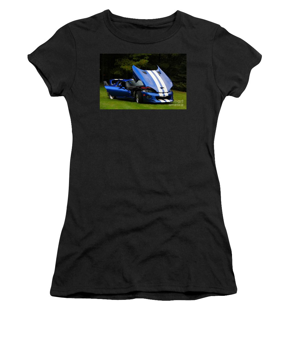 Car Women's T-Shirt featuring the photograph 1997 Viper Hennessey Venom 650r 4 by Davandra Cribbie