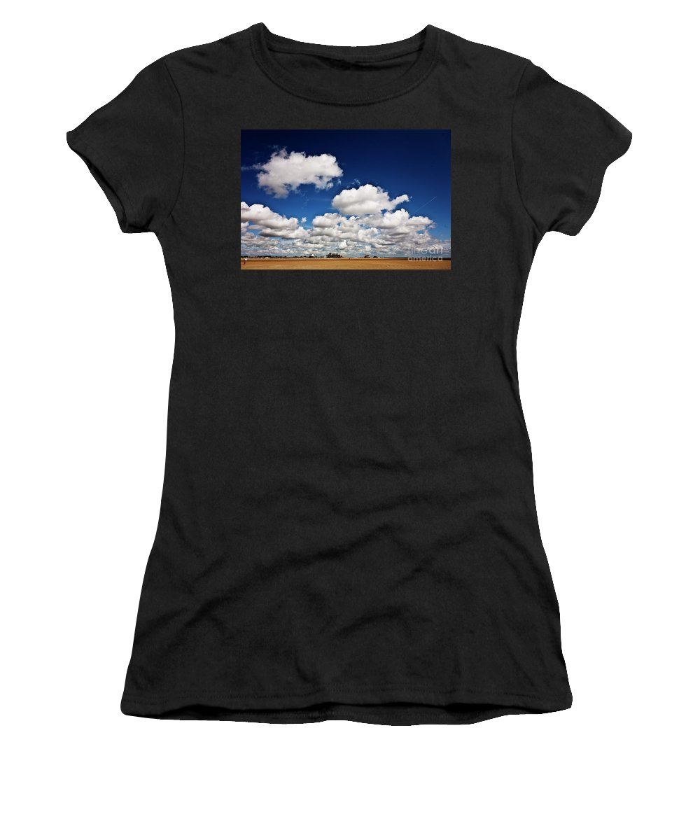 Beach Women's T-Shirt (Athletic Fit) featuring the photograph Beach Far And Wide by Heiko Koehrer-Wagner
