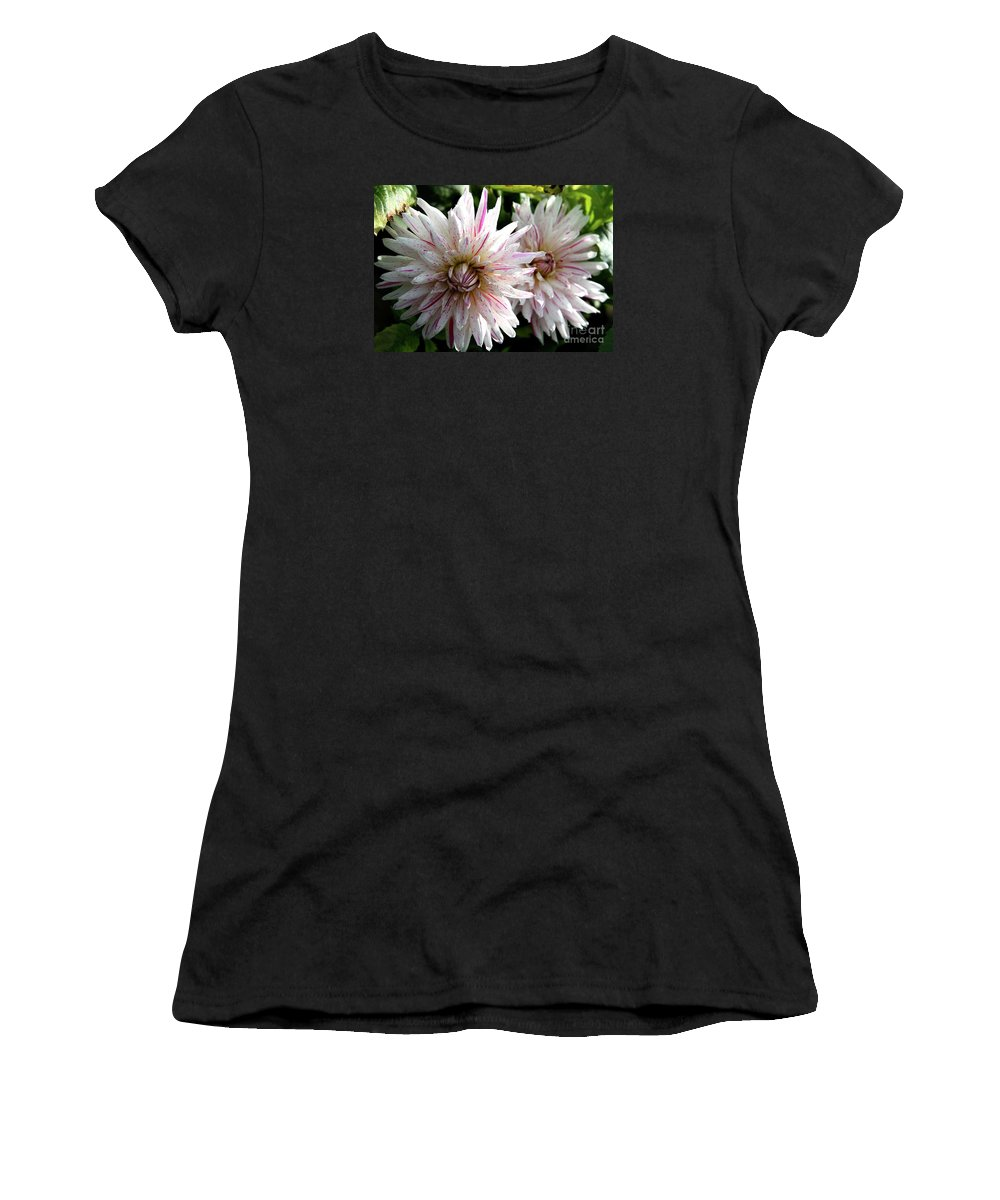 Dahlia Women's T-Shirt (Athletic Fit) featuring the photograph Beautiful Twins by Christiane Schulze Art And Photography