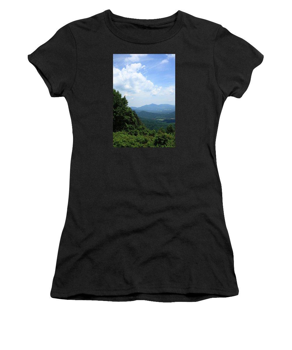 America Women's T-Shirt featuring the photograph Blue Ridge Mountains - Virginia 5 by Frank Romeo
