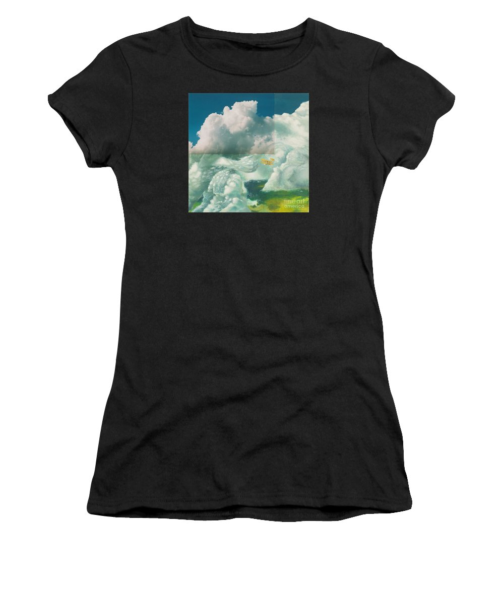 Sky Women's T-Shirt (Athletic Fit) featuring the painting Brother In The Air by Oleg Konin