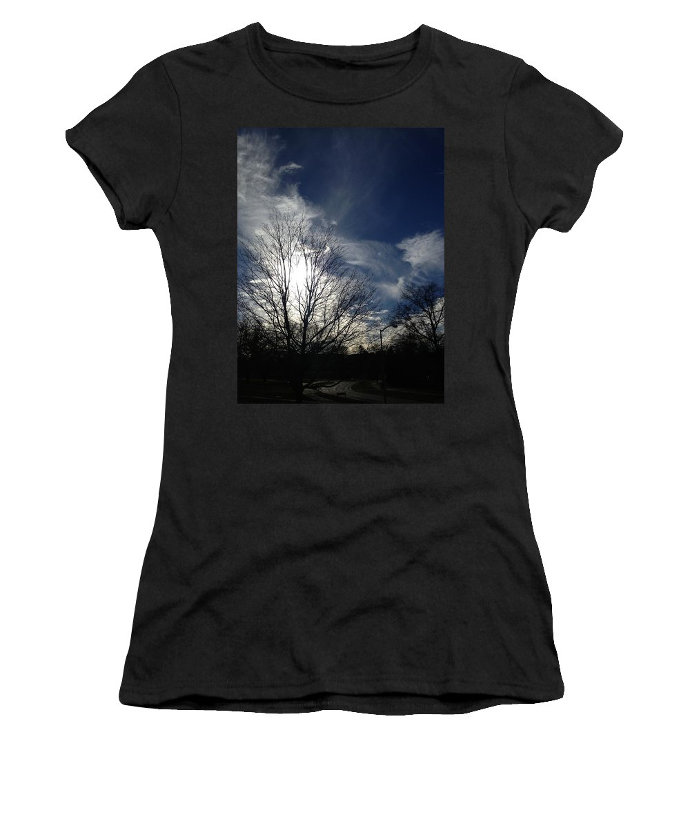 Clouds Women's T-Shirt (Athletic Fit) featuring the photograph Explosion by Joseph Yarbrough